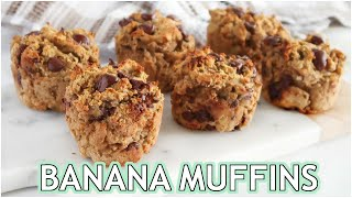 HEALTHY BANANA MUFFINS: paleo recipe
