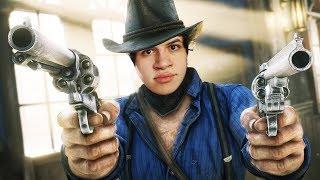 PASSEI O RODO ATÉ NO TREM! - Red Dead Redemption 2