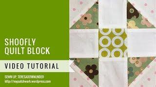 Shoofly quilt block - Mysteries Down Under quilt - video tutorial
