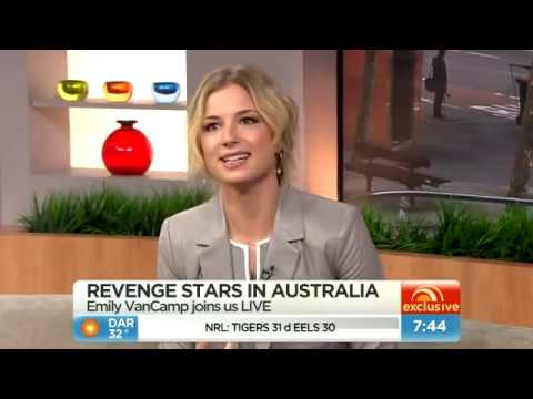 Revenge star Emily VanCamp - Sunrise interview - Australia