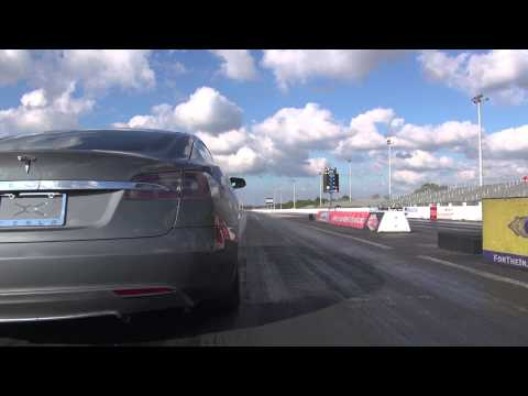 Tesla Model S Performance 12.3 @ 110.8 MPH 1/4 Mile Drag Racing