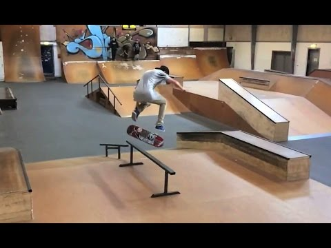 Andreas Larsen  WTF!?!! Nollie Bigspin late back footflip to Backside Lipslide Fakie!!! NBD!!??