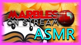 I Eat Pringles & Drink Water While Watching Marble Racing ASMR