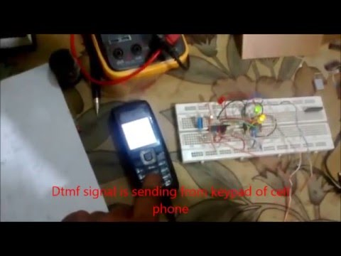home control using dtmf widout using microcontroller