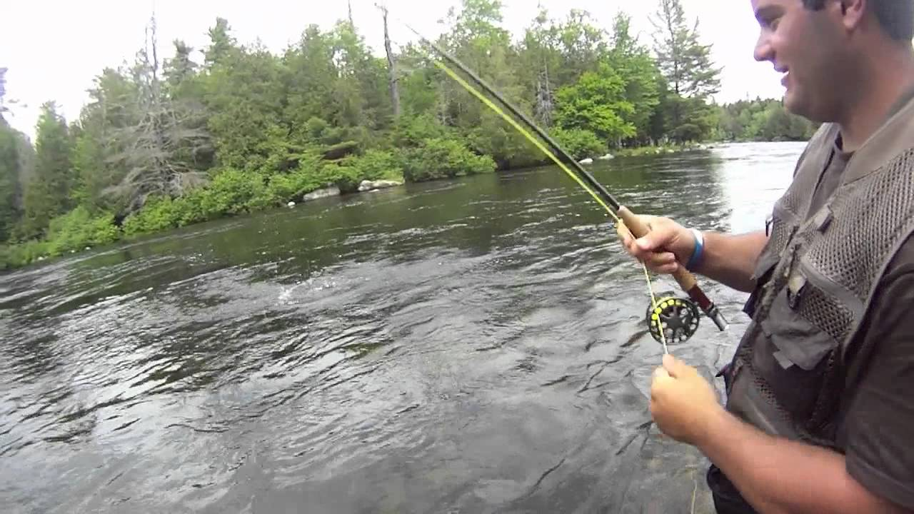 Rangeley maine fly fishing trip youtube for Fly fishing maine