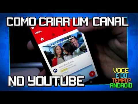 Como Criar Um Canal No YouTube Pelo Celular 🎬 🎥 📷 thumbnail