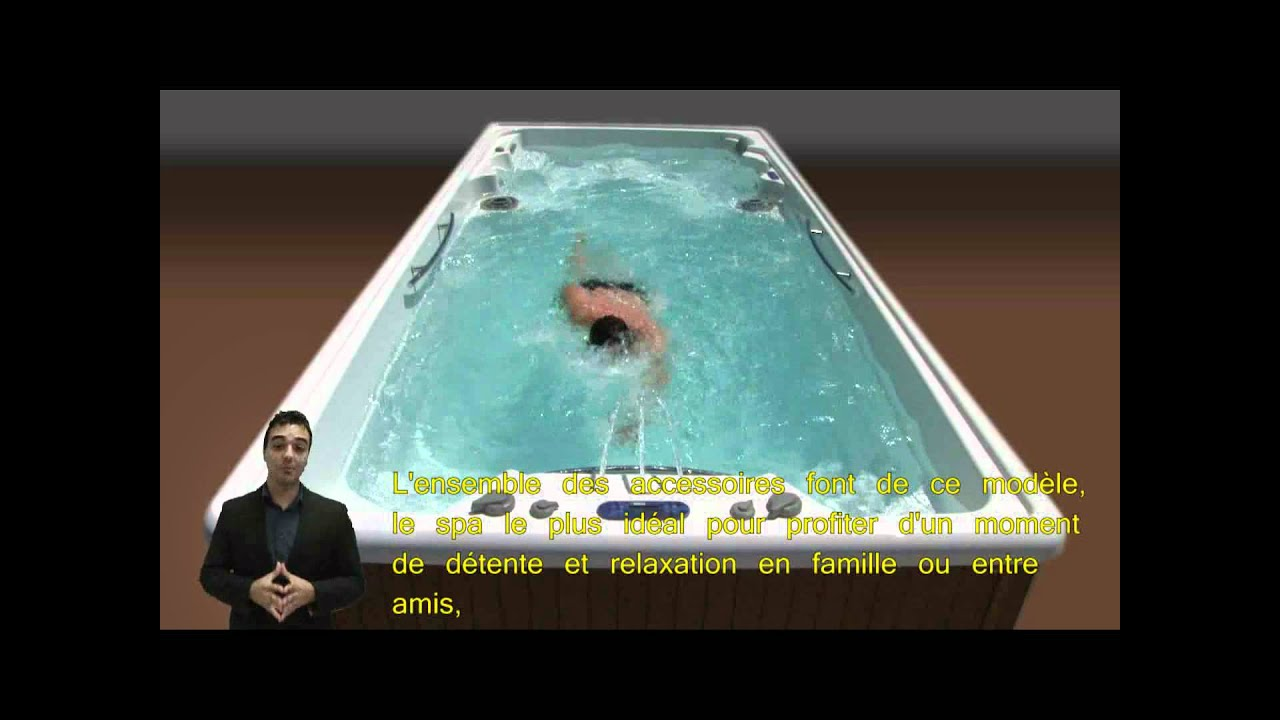 spa de nage swim spa by youtube. Black Bedroom Furniture Sets. Home Design Ideas