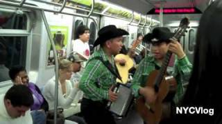 Mexican Mariachi Band on E -Train in New York City