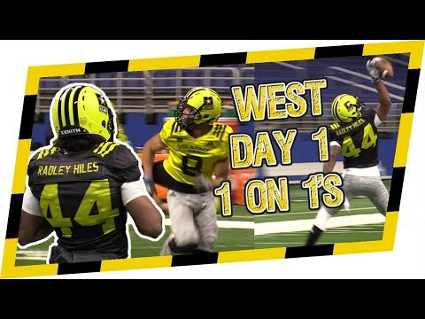 🔥🔥 2018 West Practice 1 on 1s w/ Bookie Radley-Hiles & Amon-Ra St Brown - US Army All American