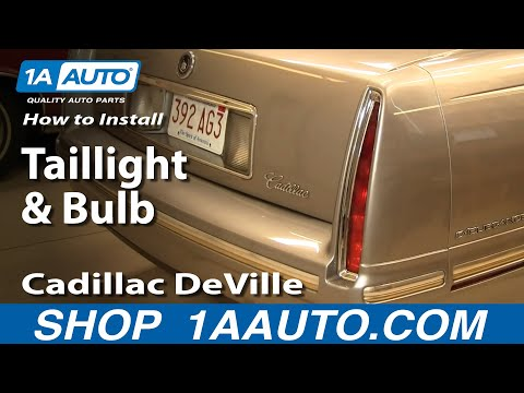 How To Install Replace Taillight And Bulb Cadillac DeVille 94-99 1AAuto.com