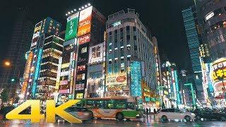 Walking around Shinjuku, Tokyo in the night of rain Part1 - Long Take??????/??? 4K