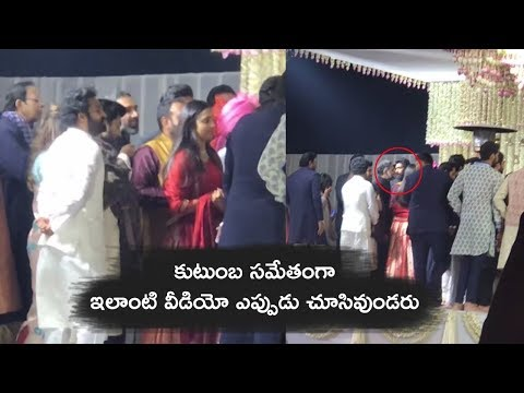 jr NTR And Ram Charan Along With Their Family On Stage @ SS Karthikeya Wedding | Tollywood Today