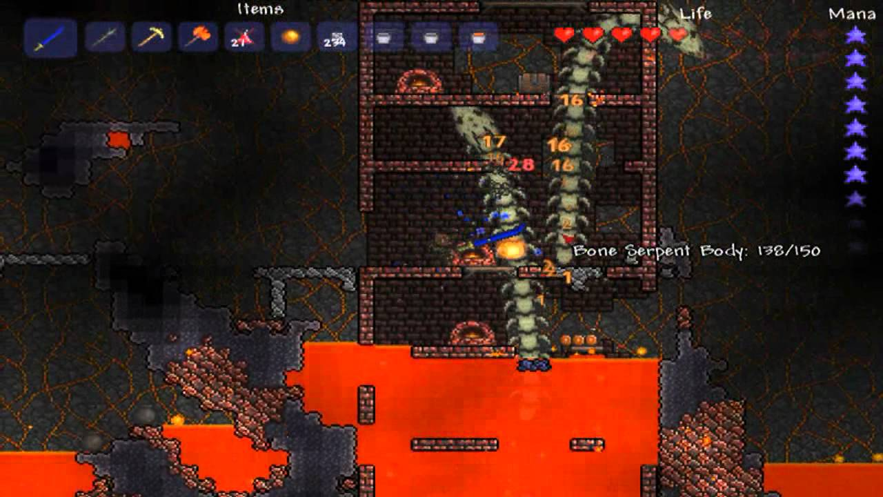 Terraria Molten Weapons Terraria Molten Armor And
