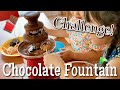 Chocolate Fountain Fondue Challenge (Easy Chocolate Syrup Recipe)   OCHIKERON   Create Eat Happy :)