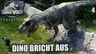 Jurassic World Evolution Deutsch #4 ► Dino bricht aus | Let's Play Gameplay German