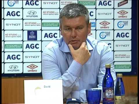 Tisková konference Davida Vavrušky po utkání se Slováckem (1.8.2015)
