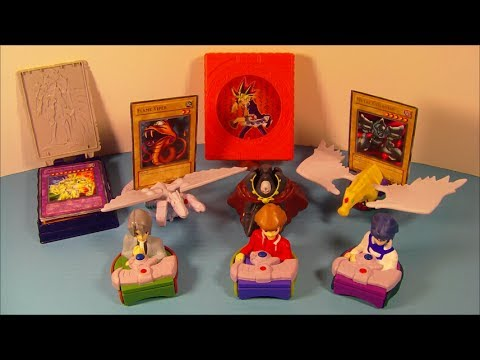 2006 SHONEN JUMP'S YU-GI-OH GX SET OF 8 McDONALD'S HAPPY MEAL KID'S TOYS VIDEO REVIEW