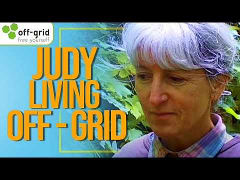 Judy Living Off-Grid - In a Log Cabin