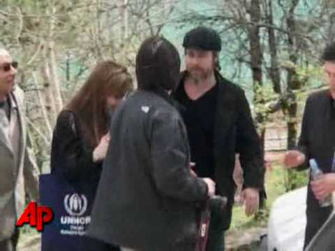 Raw Video: Jolie, Pitt Visit Bosnia