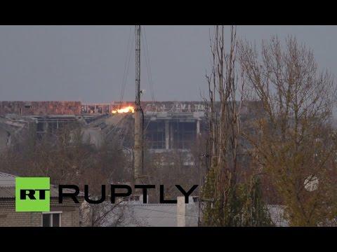 RAW: Donetsk airport fierce battle rages on amid shaky truce in E. Ukraine