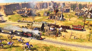 GLORIOUS TRAIN EMPIRE & NEW TECHNOLOGY | Age of Empires III Gameplay