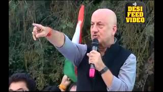 Anupam Kher  Full Speech in JNU - Slams Anti-National Slogans Raised in University Campus