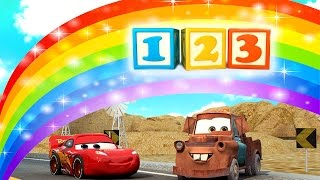 🚗 Count Numbers 1 to 20 Song with Lightning McQueen from CARS Toys | 123 Number Song | 4k Education