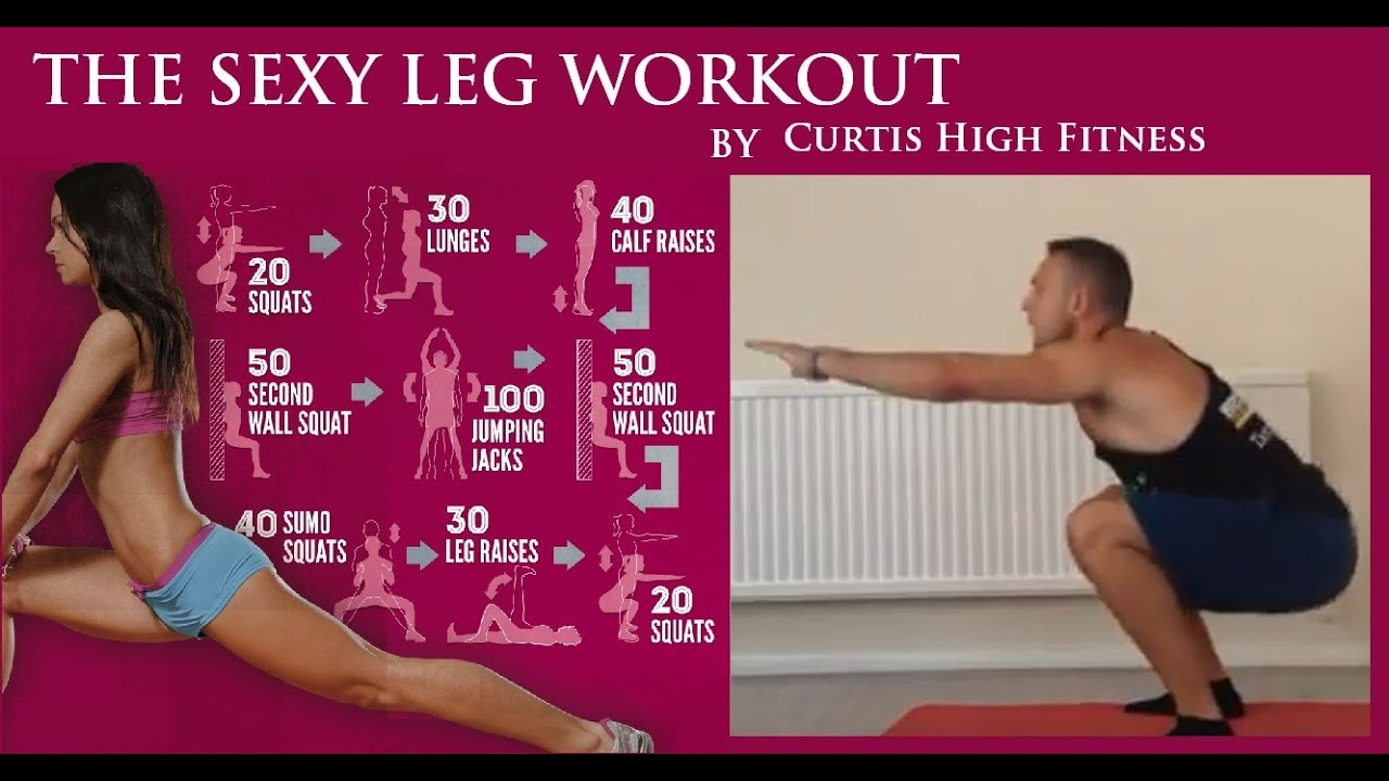 TONED SEXY LEG Workout (At Home) (No Equipment) - Curtis ...