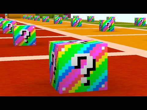 Minecraft 1v1v1 RAINBOW LUCKY BLOCK RACE! (Minecraft Mods) w/PrestonPlayz & The Pack