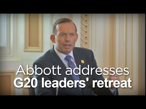 Abbott addresses the G20 leaders' retreat