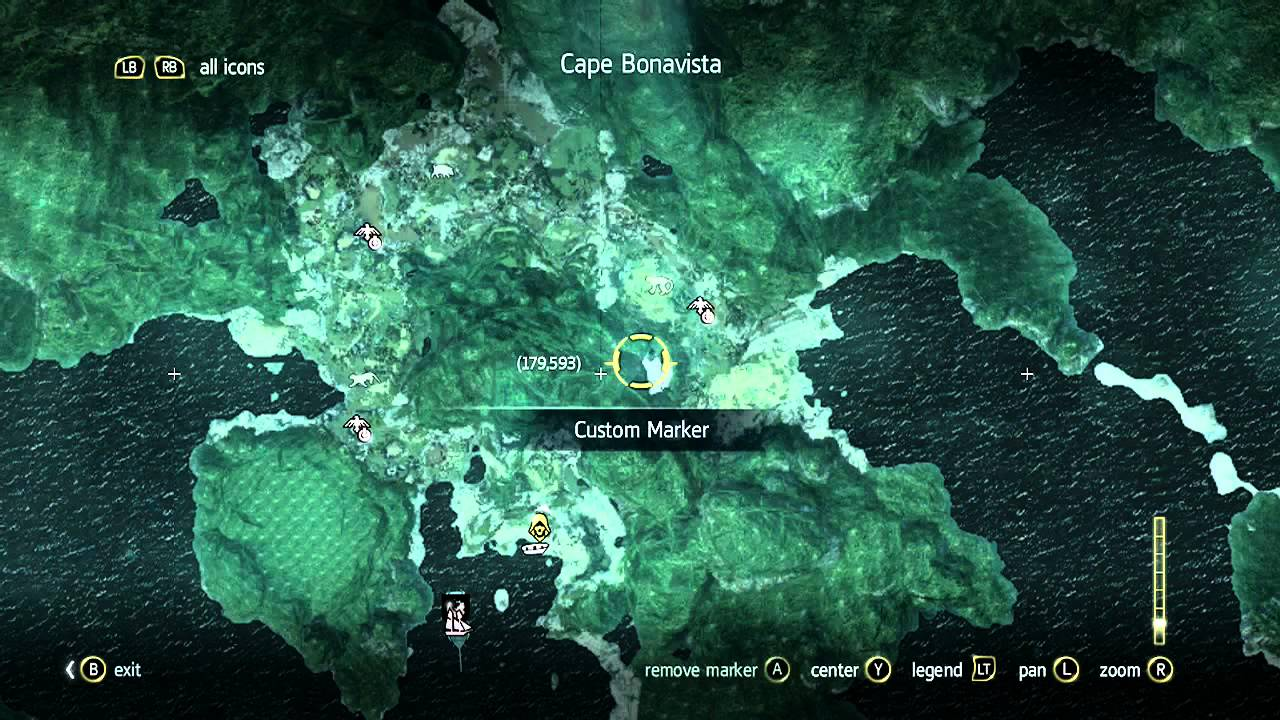 Assassins Creed IV Black Flag Treasure Map 179593 Cape
