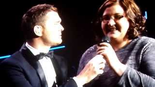Michael Buble Video - Michael Bublé - Singing Fever With A Fan & Talking - 22.01.2014 O2 World Hamburg