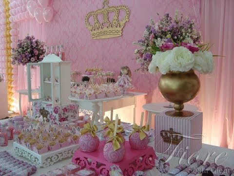 Festa Tema Boneca Princesa Floral - Ana Gabriela 1 aninho!