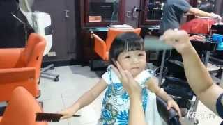 CUTE FUNNY How to do Bob HairCut For Baby Caroll - House Of Lin