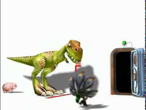 Funny video with dinosaurs. (Ржачный мульт с динозаврами)