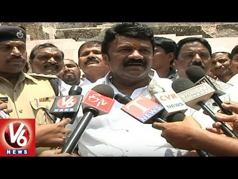 Minister Talasani Srinivas Yadav Inspects Arrangement Works For Golconda Bonalu 2018 | V6 News