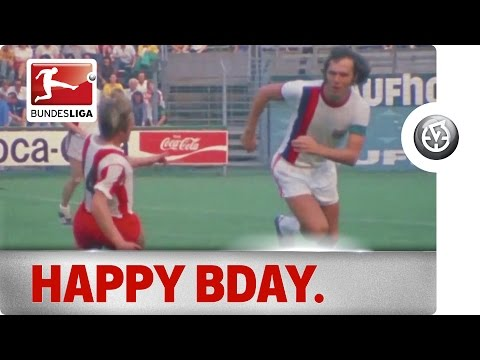 Franz Beckenbauer Turns 70 - Happy Birthday from the Bundesliga