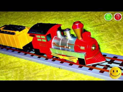 VIDEO FOR CHILDREN - «Classic Freight Train Strela» Toy Model Railway with Red Train RC