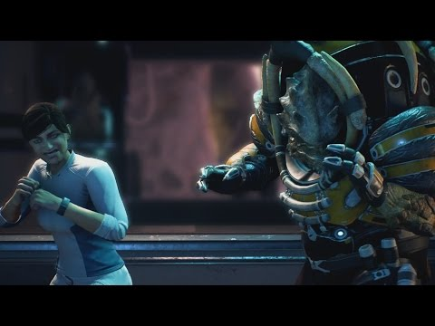 Mass Effect Andromeda Drack & Ryder Bar Fight