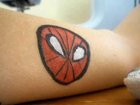 Quick Spider ManFace Cheek Body Painting Art YouTube