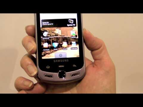 Samsung Moment for Sprint Android Phone Demo