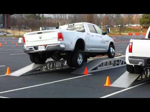 Frame Twist Test: 2014 Ram 3500 vs. 2014 Ford F350