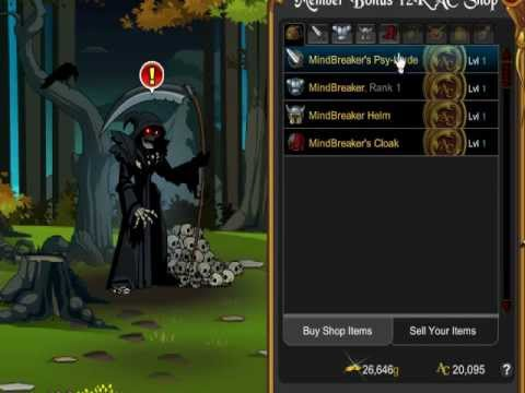 Aqw How to Get MindBreaker Class for free!