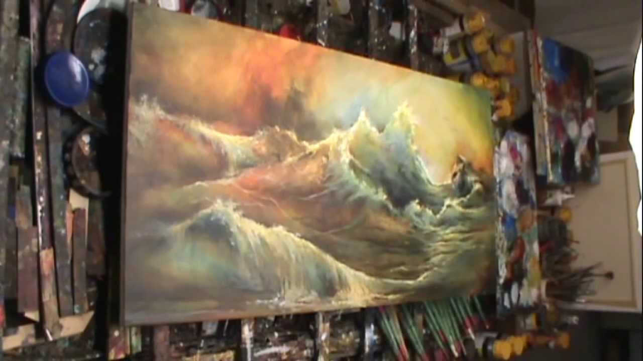 Abstract Oil Painting Seascape