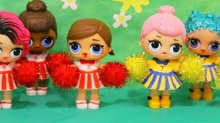 Cheerleader Competition ! Toys and Dolls Fun Playing with LOL Surprise Babies - Baby Doll Play