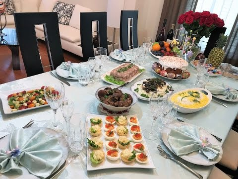 Закуски для лета на праздничный столы