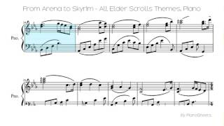 From Arena To Skyrim All Elder Scrolls Themes Piano Solo