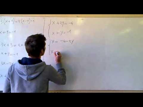 Matematica - Risoluzione Sistemi di I grado, Metodo del Confronto