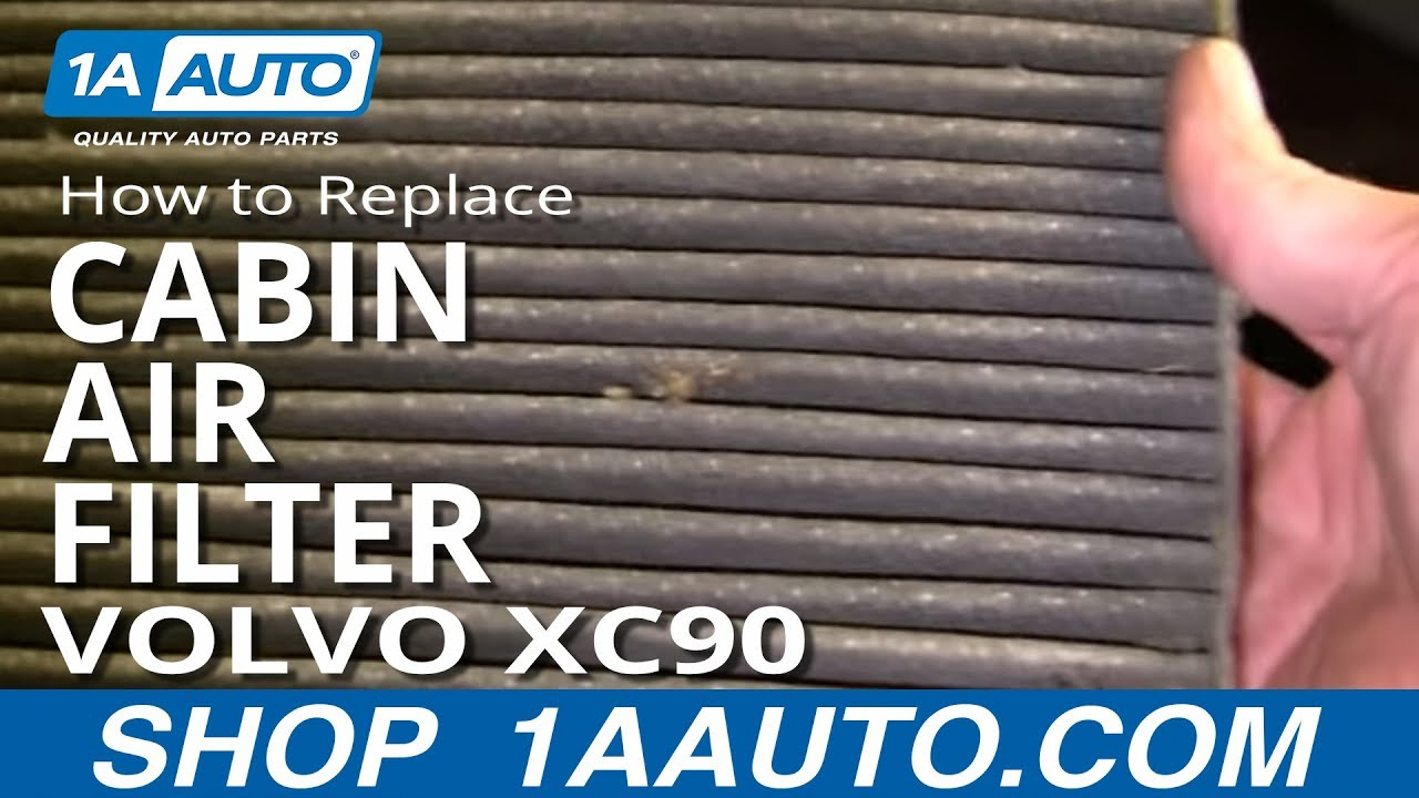 How to install replace cabin air filter volvo xc90 03 12 for What size cabin air filter do i need