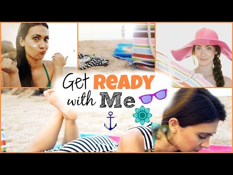 Get Ready With Me: Beach day. Día de Playa | Piel, Peinado sencillo, Maquillaje, Outfit!
